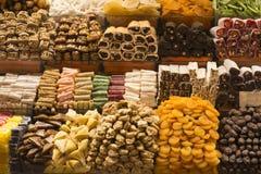 Placer turco y frutas secadas Imágenes de archivo libres de regalías