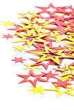 Placer of yellow and red stars Royalty Free Stock Images