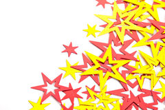 Placer of yellow and red stars Royalty Free Stock Photo