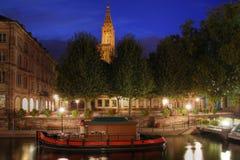 Placera au Poisson, Strasbourg, Frankrike för du Marche Arkivfoton