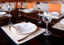 placera restauranginställningen Arkivbild