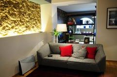Placera rum med vagga vägg@The Playce Arkivfoton