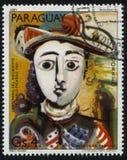 Placerad kvinna av Pablo Picasso Arkivbilder