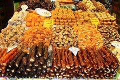 Placeres turcos en bazar magnífico Foto de archivo libre de regalías