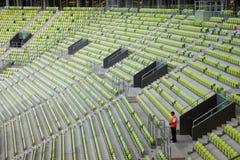 Placering av arenaen för stadion PGE i Gdansk Arkivbilder