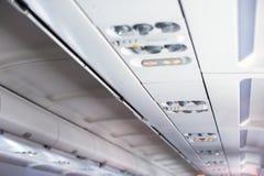 Placering för passagerare i ett flygplan Arkivbild