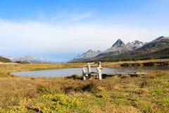 Placering i härligt landskap av Tierra del Fuego royaltyfri fotografi