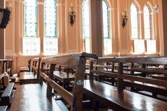 Placering i kyrkan, Chantaburi, Thailand Royaltyfria Bilder