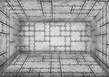 Placeringen klippte metallark, bakgrund för designen, 3d, illus Arkivfoton