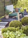 Places assises tranquilles de jardin Images libres de droits