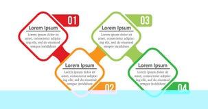 Places d'Infographic de vecteur avec 4 options ou étapes Infographics pour le concept d'affaires Peut être employé pour des prése illustration libre de droits