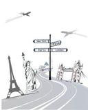 Places d'intérêt illustration libre de droits