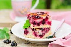 Places de tarte de cassis Photo stock