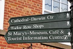 Places of interest sign, Lichfield. Royalty Free Stock Photography