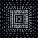 Places monochromes abstraites sur le fond noir illustration de vecteur