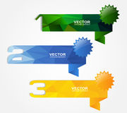1 2 3 origami banner Royalty Free Stock Image