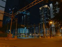 Places in Philippines. Bgc places philippines buildings night stock image