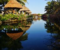 Places in the resort. Landscapes and types of places in tropical resorts at water Stock Images