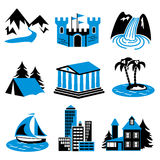Places rest royalty free illustration