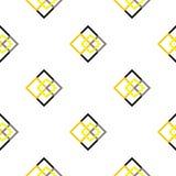 Places sans couture géométriques de jaune de modèle Photo stock