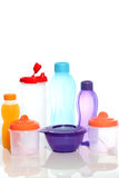Places to eat and drink made ??of plastic suitable for the provision of office to Stock Image