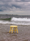 Places to Sit. Stool in ocean Stock Photos