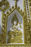 Places of worship and temple art of Thailand. Royalty Free Stock Images