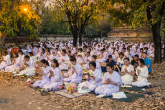 Places Yom Kippur at Wat mahaeyong , Ayuthaya province of Thailand Royalty Free Stock Photos