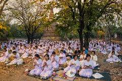 Places Yom Kippur at Wat mahaeyong , Ayuthaya province of Thailand Stock Photography