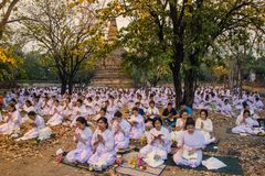 Places Yom Kippur at Wat mahaeyong , Ayuthaya province of Thailand Stock Photo