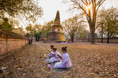 Places Yom Kippur at Wat mahaeyong , Ayuthaya province of Thailand Stock Image