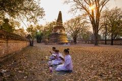 Places Yom Kippur at Wat mahaeyong , Ayuthaya province of Thailand Stock Images