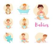 Placez avec des bébés Photos stock