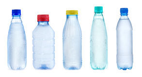 Placez avec des bouteilles de l'eau images libres de droits