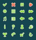 Placez avec des boutons d'interface avec des icônes illustration libre de droits