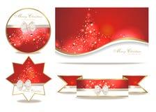 Placez avec des cartes de Noël Images libres de droits