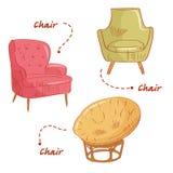 Placez avec des chaises Photographie stock