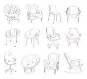 Placez avec des chaises Image libre de droits