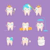 Placez avec des dents D'isolement Images stock