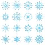 Placez avec des flocons de neige Images libres de droits