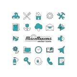 Placez avec des icônes - symboles abstraits illustration de vecteur