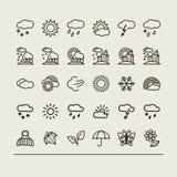 Placez avec des icônes - temps illustration de vecteur