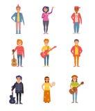 Placez avec des personnes de différentes cultures secondaires illustration stock
