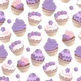 Placez avec différents gâteaux Image libre de droits