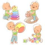 Placez avec jouer d'enfants illustration de vecteur