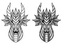 Placez avec le dragon Photos stock