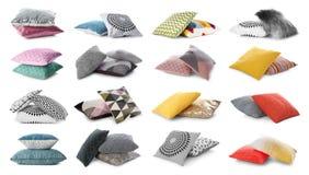 Placez avec les oreillers décoratifs image stock
