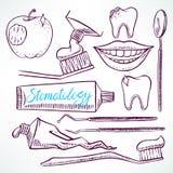 Placez avec les outils dentaires illustration libre de droits