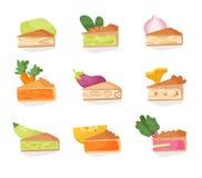 Placez avec les tartes végétaux Vecteur Image libre de droits