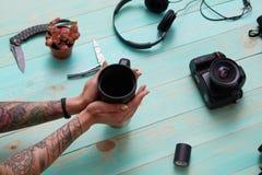 Placez, collage du ` s, accessoires des hommes du ` s de femmes photographie stock